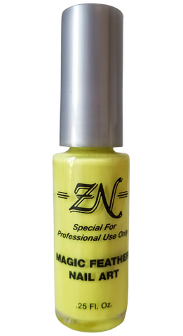 Magic Feather Nail Art - Neon Yellow - Tru-Form Nails & Cosmetics