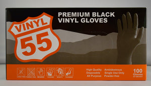 Premium Black Vinyl Gloves (Extra Large) - Tru-Form Nails & Cosmetics