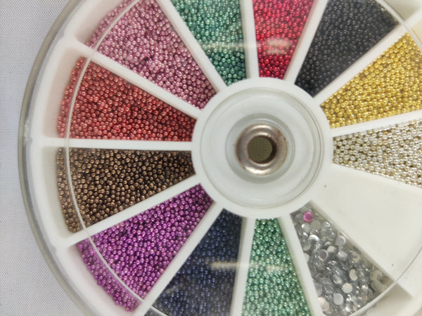 12 Color Nail Art Wheel- Beads Edition 2400 Pieces