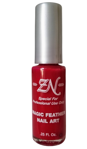 Magic Feather Nail Art - Red - Tru-Form Nails & Cosmetics