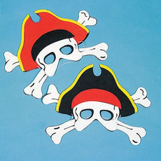 12 Child Size Foam Pirate Masks