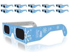 Christmas 3D Glasses - Holiday Specs Transform Lights into Magical Snowflake Image (10 Pack)