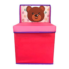 Sandy Storage Chest Folding Chairs for organizing Books Toys and Clothes, Pink