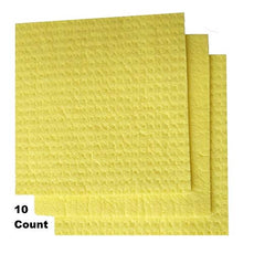 Sponge Cloth, Swedish Dishcloth, Cellulose, Reusable, 10-sponges in Pack.