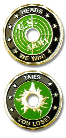 Army Heads We Win, Tails You Lost Challenge Coin