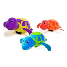 LEAFBABY 3 PCS Cute Wind-Up Turtle Baby Bath Toys Swimming Tub Bathtub for Kids 3 Colors