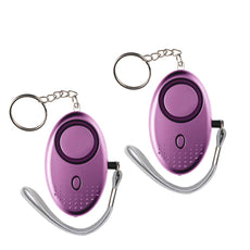 IEKA Personal Alarm, 2Pack 130 DB Emergency Safety Key Chain Siren, Self-Defense Security Sound Alarm with Safe LED Flashlight Best for Kids, omen,Elderly And Night Workers(Purple)