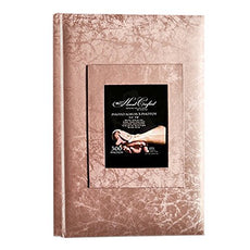 "KVD Kleer-Vu Deluxe Albums, Wedding Album Collection, Holds 300 ""4X6"" Photos, 3 Per Page, Jacquard Textured, Window Frame Cover, Copper 1"