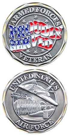 U.S. Air Force Proudly Served Challenge Coin