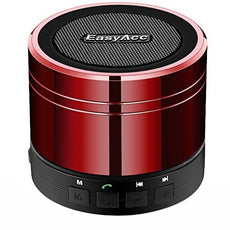 EasyAcc Mini Portable Bluetooth 4.1 Speaker with Mic, 3.5mm Aux, FM Function, Micro SD Card Support - Red