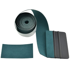FOSHIO Micro Fiber Felt for Squeegee Edge Wrapping 2 Meters Length - Dark Green Suede Felt to Cover The Edges of Hard Card Squeegees 2Meters Squeegee Felt