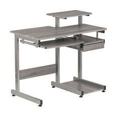 Techni Mobili RTA-2706A-GRY Complete Computer Workstation Desk, Gray, Grey