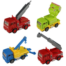 yoptote Pull-Back Vehicles Alloy Car Toys Diecast Cars Construction Trucks Metal Race Car 4 Pack for Kids Toddlers Boys Girls 3 4 5 Years,Random Delivery