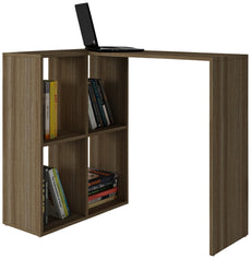 Manhattan Comforts 76AMC23-MC Pescara Cubby Desk with 4 Shelves in Oak Oak,mdp Melamine