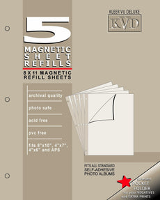 KVD Kleer-Vu Deluxe Albums Inc. N/A Collection, Magnetic refill pages Each pack contains 5 sheets, Mag. by KVD