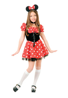 Charades Little Miss Mouse Girl's Costume Dress, Black/Red, X-Large