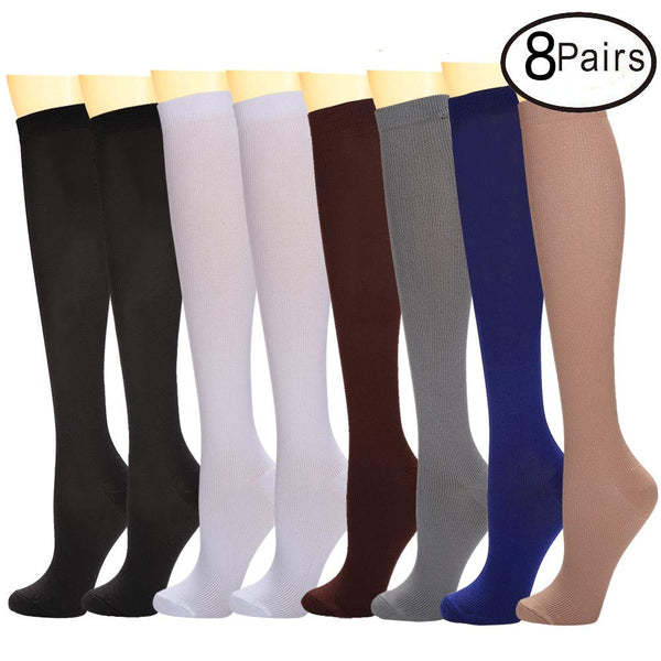 8 Pairs Compression Socks For Women And Men Best Athletic