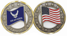 U.S. Air Force Logo Flag Cut Out Challenge Coin by Eagle Crest
