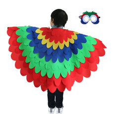 BREEZEIE Children Toddler Owl Wings Costumes-Animals Cape With Mask For Kids Cosplay Fancy Dress Up Party Set