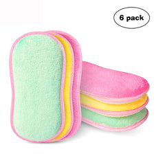 ETeck Kitchen Microfiber Scrubber Multi-use Scrubbing Sponge Enhanced Cleaning Effect, 6-Pack