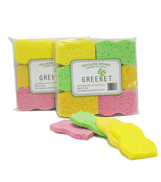 Greenet 24 Pack Cleaning Handy Sponge Pad 100% Natural Cellulose for Kitchen Cookware