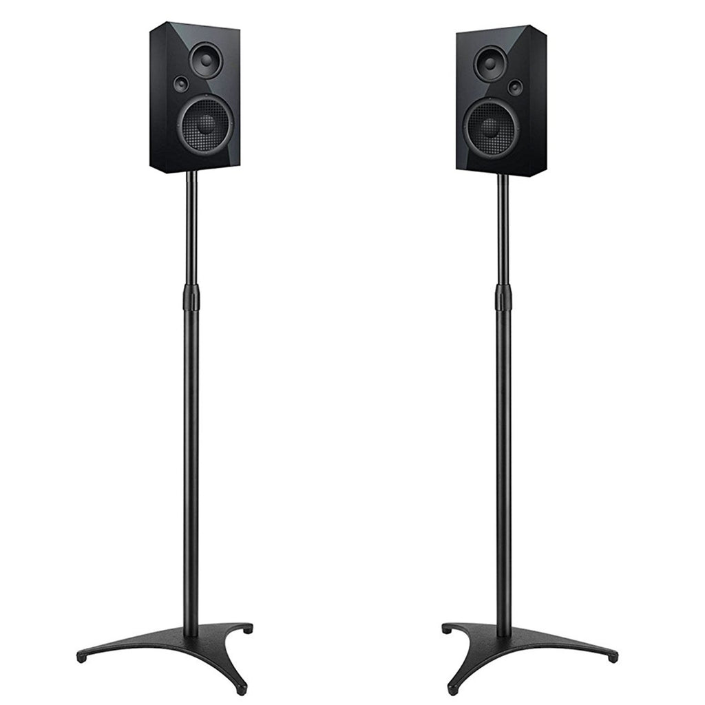 PERLESMITH Adjustable Height Speaker Stands Extends 30 To 45 Hold Satellite