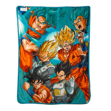 Official Dragon Ball Super Plush Soft Fleece Travel / Camping / Cozy, Blanket/Throw Compact Sized 45 x 60 inches