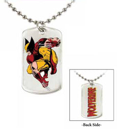 "Jewel M Wolverine ""Crouch"" Double-Sided Dog Tag"