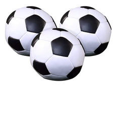 "JetLine Set of 3 Soccer Ball 4"" Pillow Ball, Soft Poly-Filled Squeeze Toys."