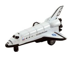 Die Cast Metal 5 White Space Shuttle w/ Pull Back Action by KinsFun