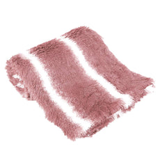 "uxcell Faux Fur Throw Blanket Pink Super Soft Shaggy Long Fur Blanket Decorative Plush Microfiber Fuzzy Fur Blanket for Bed Couch,50"" x 60"" Throw (51"" x 62"")"