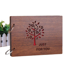 Freedom Wooden Photo Album Maple Tree Pattern Scrapbook 8 X 6 Inches (Tree)