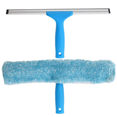 "MR.SIGA Professional Window Cleaning Combo - Squeegee & Microfiber Window Scrubber, 14"" 14-inch"