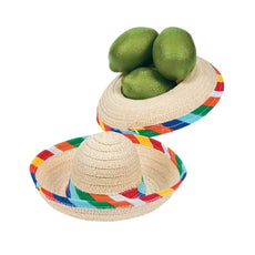 Mini Sombrero Hats - Mexican Party Decor - Tabletop Party Supplies - 12 Pack 1