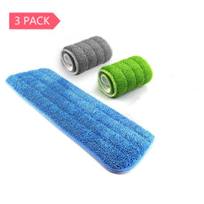 Mop Replacement Pads - Samshow Mop Microfiber Cleaning Pads for Most of Mops Washable 16.5 x 5.5 Inch, 3 Pieces