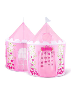 Sparkly Sophia Kids Princess Castle Play Tent House Girls Toy for Children Indoor Outdoor Use Tunnels Storage with Carrying Case Designer's Child Gift Furniture Room Decoration 43''D x 54''H Sophia Princess