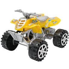 TukTek Kids First Mini ATV Monster Truck Toy Four Wheeler 4 x 4 Small Friction Push Off-Road Race Car Super Speed Assorted Colors for Boys & Girls