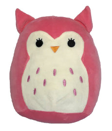 "Squishmallow Kellytoy 8"" Hoot the Pink Owl Super Soft Squishy Plush Toy Pillow Pet"