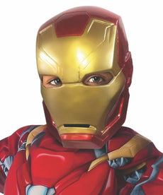 CA3 Iron Man Child 1/2 Mask Gold/Red One Size