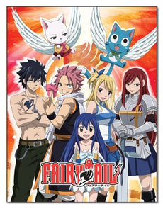 "GE Animation GE-57699 Fairy Tail Group Throw Blanket, 46"" x 60"""