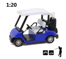 "HAPTIME 4.75"" Die-cast Metal Golf Cart Pull Back Vehicle Toy"