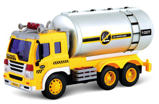 PowerTRC Friction Powered Oil Tanker Truck Toy | Push and Go Truck | Lights and Sound |