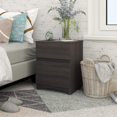 Drawer Wood Chest, Works as Dresser & Storage Cabinet for Home & Office (Two Drawer-Gray Oak) two drawer-Gray Oak