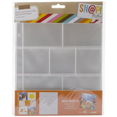 Simple Stories Snatp! Insta Pocket Pages for 6 by 8-Inch Binders with 2 by 2-Inch and 3 by 3-Inch Pockets, 10-Pack