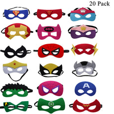 UCLEVER Superhero Party Masks Children Birthday Dress-up Mask 18 Pieces