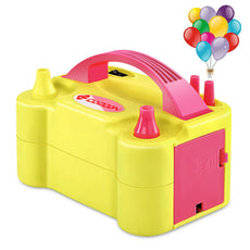 IDAODAN Electric Balloon Pump, Portable Dual Nozzle Electric Balloon Inflator/Blower for Decoration
