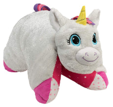 Flipazoo Flip 'N' Play Friends Plush Toy & Pillow in 1 (Unicorn/Fashion Kitty) Instantly Transforms for Hours of Playtime and Naptime Fun