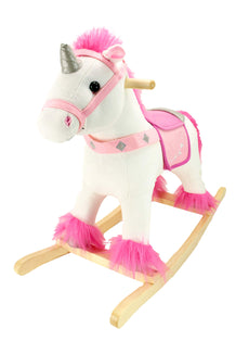 Animal Adventure Soft Unicorn Rocker | Soft Plush Unicorn Rocker & Real Wood Ride-On Rocker | Perfect for Children Ages 2+