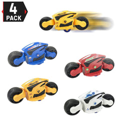 [4-Pack] High Speed Friction Futuristic Concept Motorcycle Toys for Kids - Racing Motorbike Vehicles Party Favors