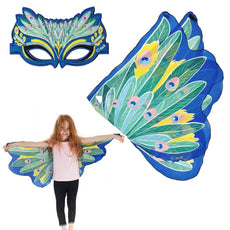 Douglas Cuddle Peacock Wings and Mask Bundle Set